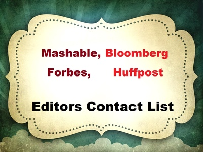 Send contact information of Huffpost, Forbes, Bloomberg and Mashable