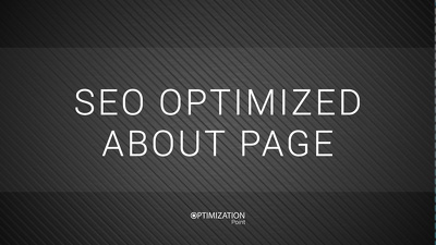 Write SEO Optimized About Page that Sells