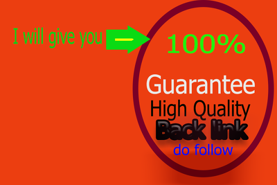 Give you high Quality profile 50 back link do follow complete.