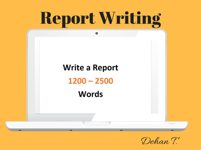 Write a report consisting of 1200 - 2500 words on any topic