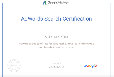 Create a new Adwords account or improve /audit your existing account.