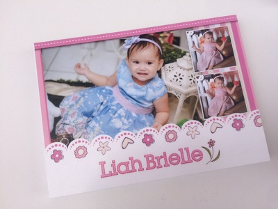 Design your baby milestones photobook