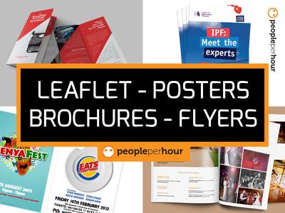 Design a Leaflet / Brochure / Flyer / Poster