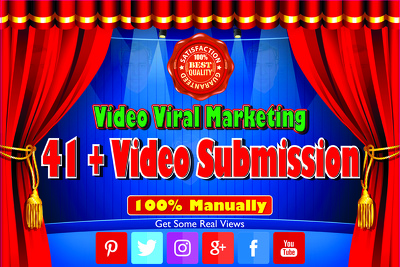 Submit video to 41 High Ranking Video sharing Websites 100% Manually