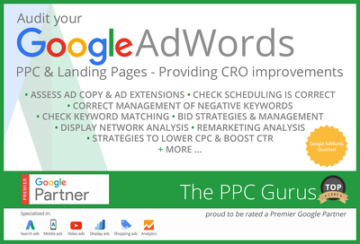 Audit your Google Adwords PPC & Landing Pages - Providing CRO improvements