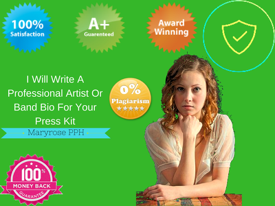 Write A Professional Artist Or Band Bio For Your Press Kit {75- 500 words}