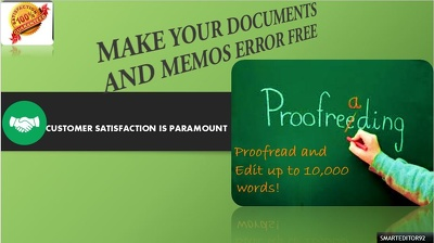 Proofread your documents up to 10000 words