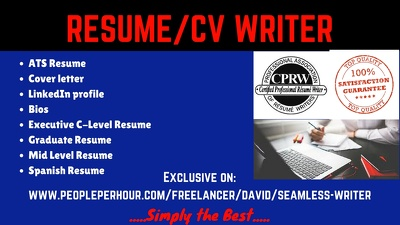 Write, rewrite and design your resume and cover letter