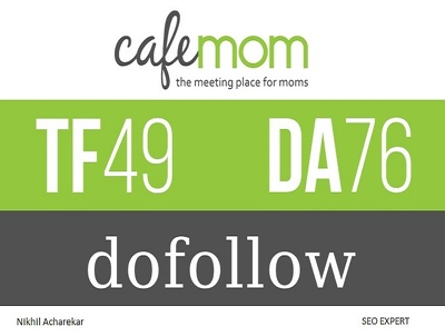 Write and Publish an Article on the Cafemom DA76 PA61 with One Dofollow Backlink
