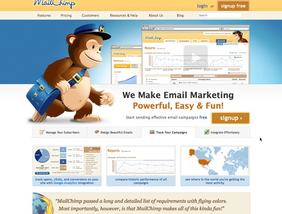 Integrate mailchimp in your website