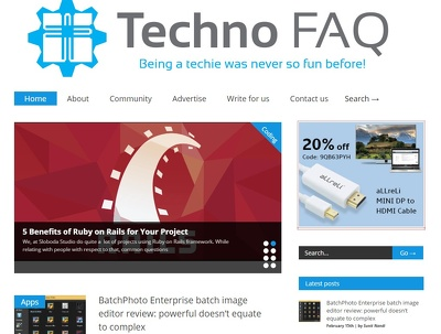 Will guest post on technofaq.org - DA 33 website trafic 2k/month