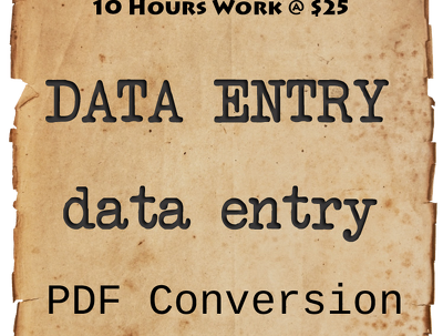 Provide one day (10hours) data entry task