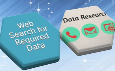 Research 50-55 entries for emails, addresses and other contact data