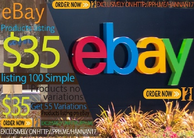 Do eBay product listing 100 simple products add on eBay store