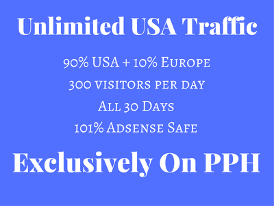 Provide 100% Adsense Safe Unlimited USA Traffic To Your Website