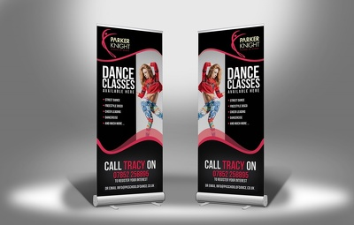 Design roll up banner or outdoor/indoor banner.