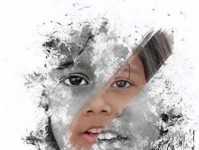 Create Beautiful Ink Smudge Portrait