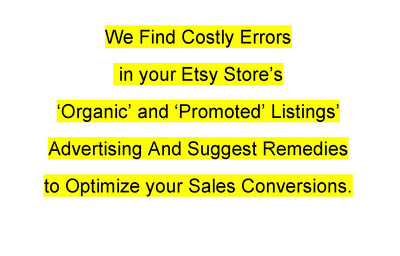 Find your Etsy shop's costly errors and suggest fixes to optimize sales conversions