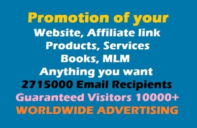 Promote website affiliate link to get traffic worldwide