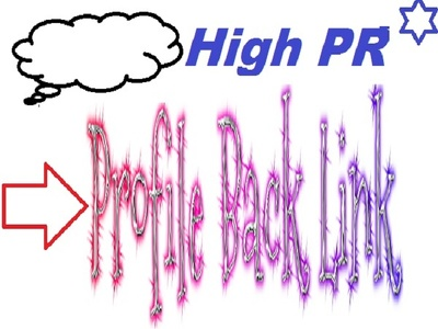 Manually Create 50 High PR Profile Back Link for your Website