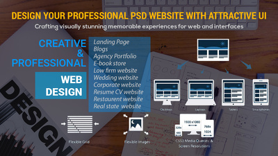 Design your Professional PSD Website with attractive UI