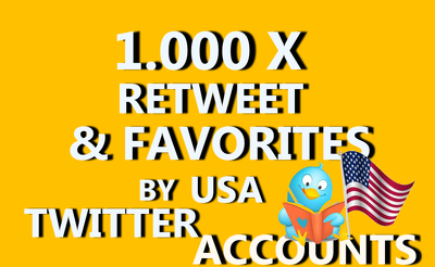 DO 1000 RETWEET AND FAVORITE CAN SPLIT UP TO 5 LINK