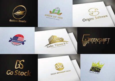 Design high resolution vector logo concept Unlimited modification along with favicon