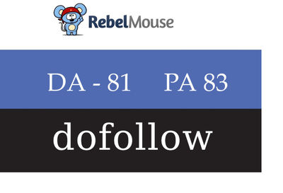 Publish Guest Post On RebelMouse DA 81 with dofollow links