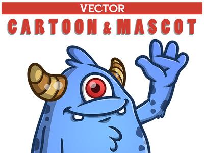 Professional vector Cartoon, Character or Mascot