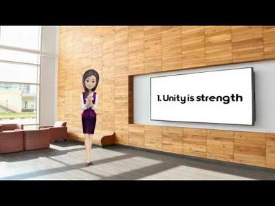 create a 3D female presenter