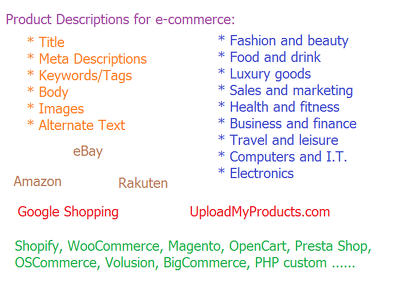 Write 10 x compelling product descriptions (SEO friendly) for any industry