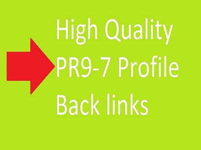 Manually create 50 High Quality PR-9 Profile Back links