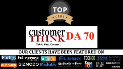 Write + Publish A Guest Post DA70, CustomerThink CustomerThink.com do follow link