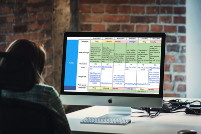 Produce your social media calendar