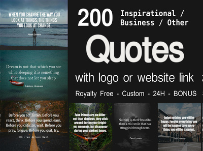 Create 200 Inspirational Quote Images With Your Logo In 24h