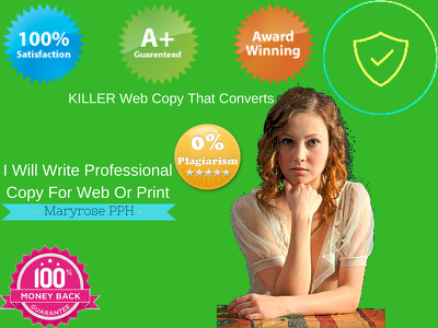 Write Professional Copy For Web Or Print {50 - 500 words}