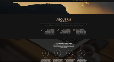 Make HTML5 pure static webpage (3-5 pages)