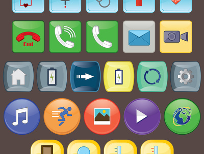 Create 4 custom icons for web and mobile use
