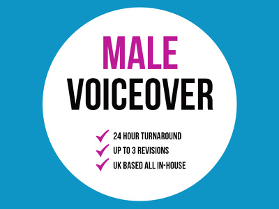 Professional Male Voiceover + 24 Hour Turnaround + English Accent