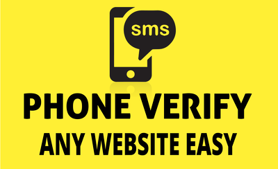 Phone Verify Any Website / Social Media Accounts - 10 Verifications