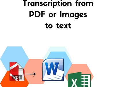 Do typing job from pdf and jpg to word or excel