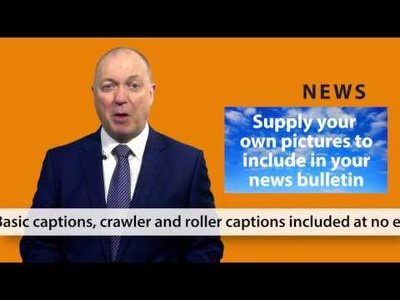 present a TV News video report promoting your company or product