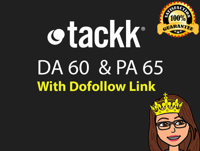 Write a blog on tackk.com (DA 60, PA 65 PR 4) Dofollow Link