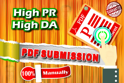 PDF Submissions To 31 Best Ranking PDF/Document Sharing Sites 100% Manually
