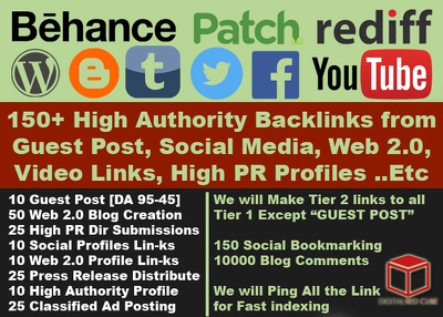 Monster SEO Package - 150+ HIgh Quality SEO Backlinks