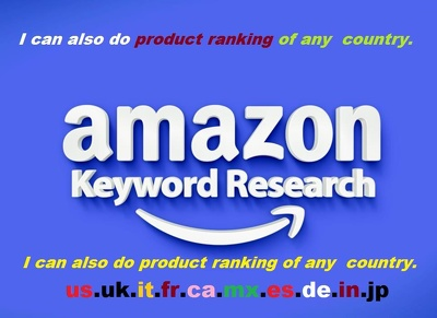 Do amazon SEO, First Page Results of Target Keywords