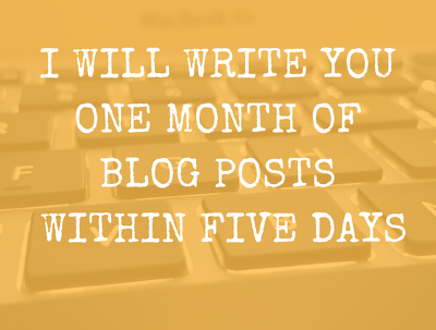 Write you a month of blog posts (x4) within five days