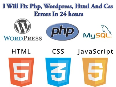 Fix Php, Wordpress, Html And Css Errors In 24hours