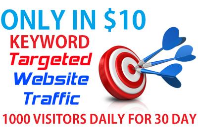 Send 1000 visitors/day for 5 days +5% KEYWORD TARGETED REAL HUMAN Website Traffic