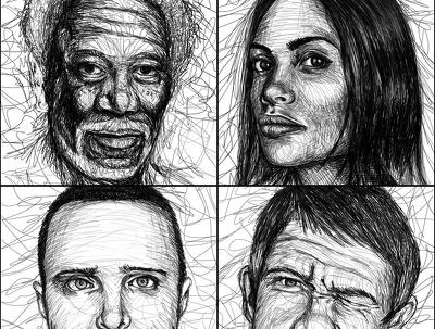 Draw you unique style sketch portrait